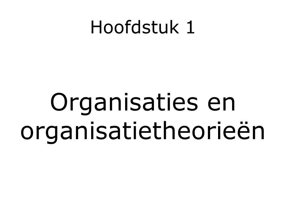 Organisaties en organisatietheorieën
