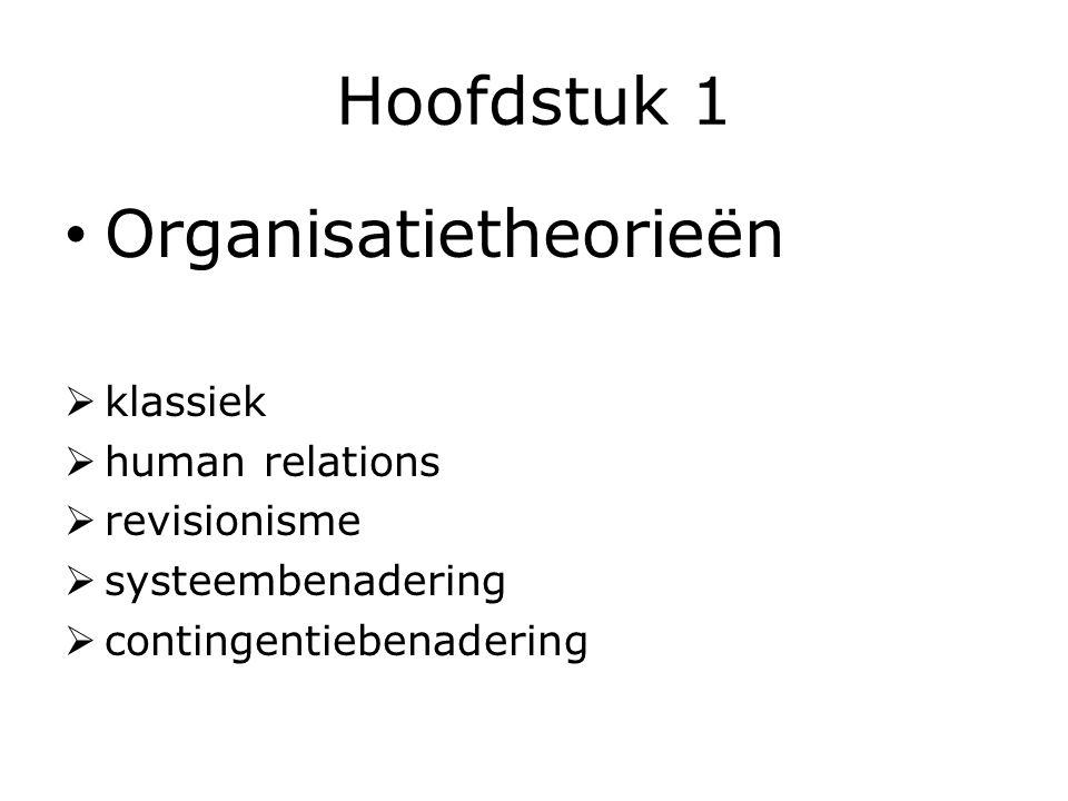 Organisatietheorieën