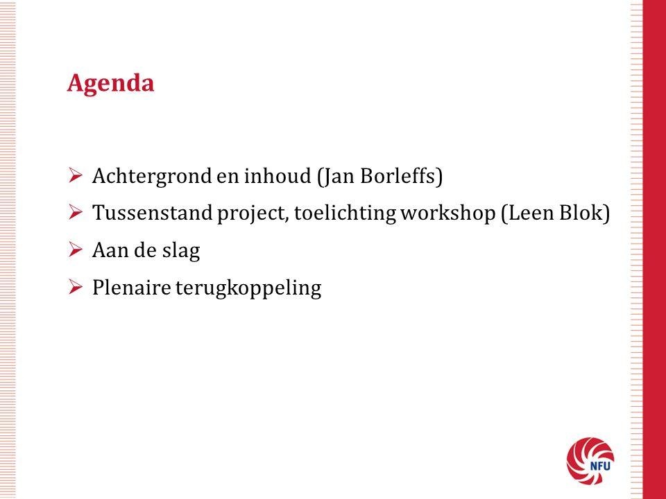 Agenda Achtergrond en inhoud (Jan Borleffs)