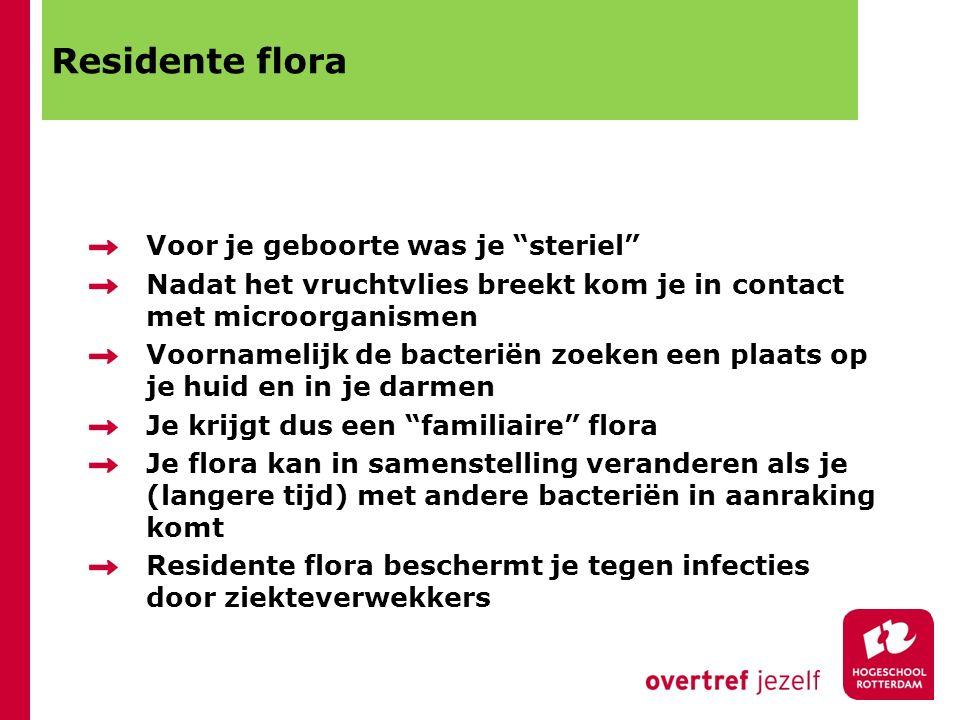 Residente flora Voor je geboorte was je steriel