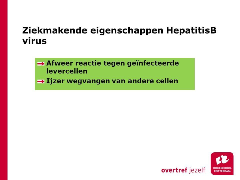 Ziekmakende eigenschappen HepatitisB virus