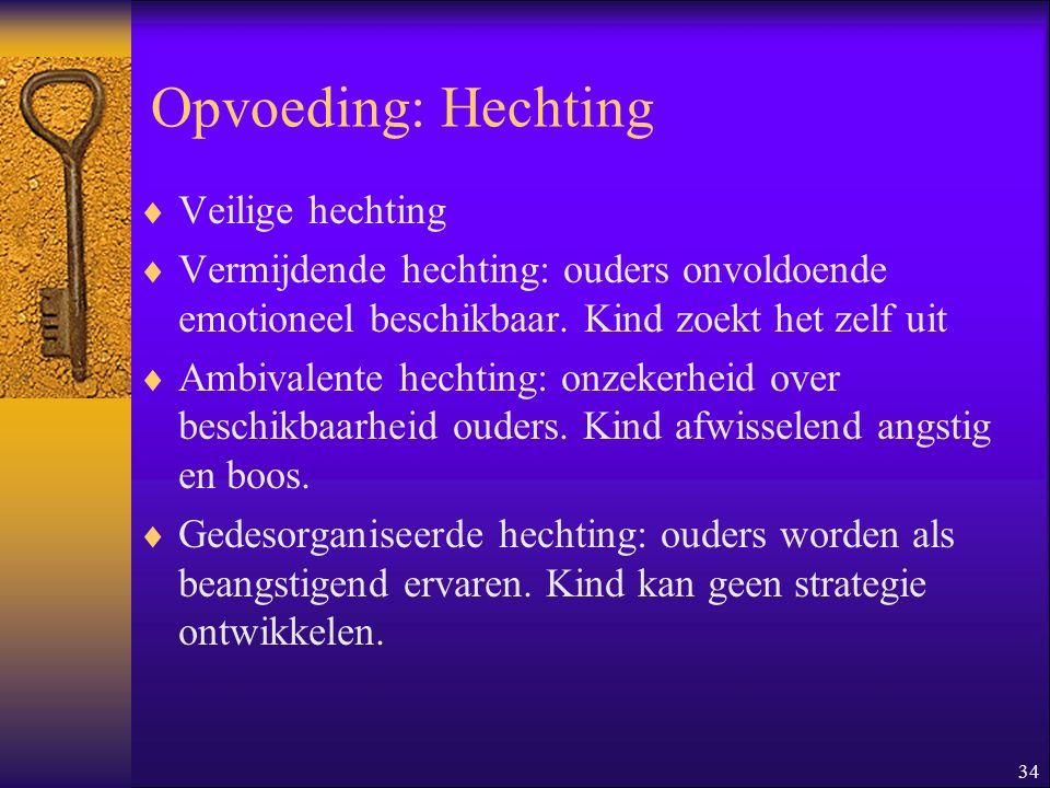 Opvoeding: Hechting Veilige hechting
