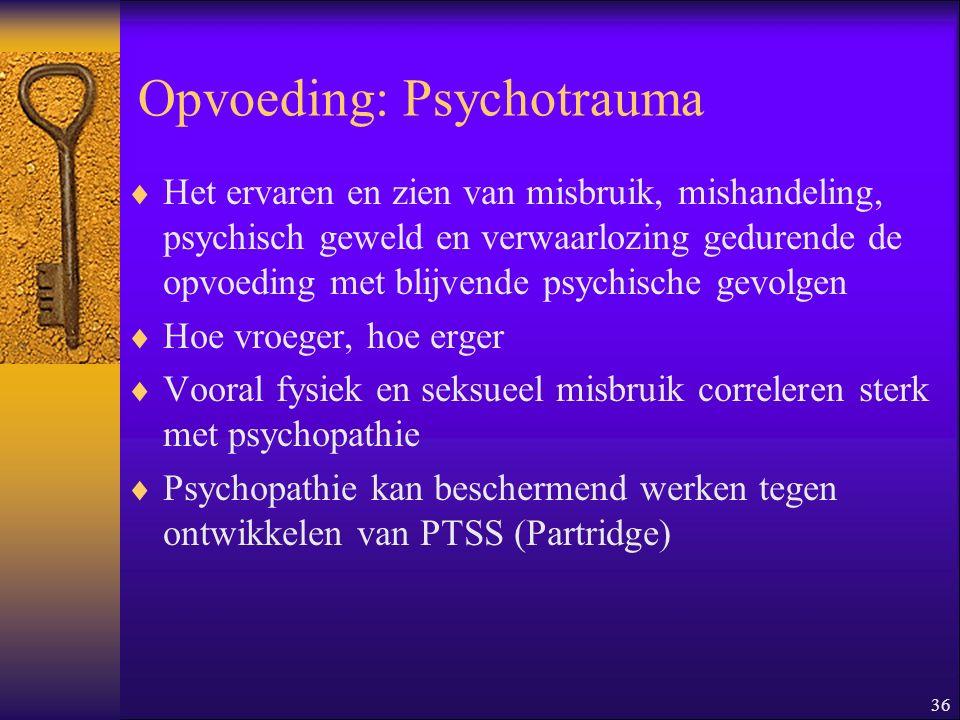 Opvoeding: Psychotrauma