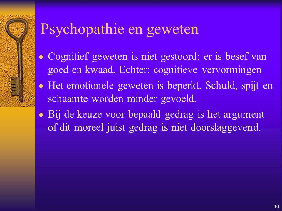 Psychopathie en geweten