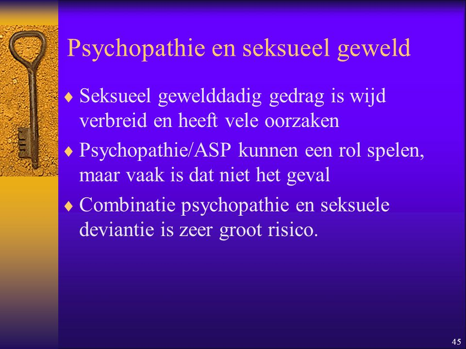 Psychopathie en seksueel geweld