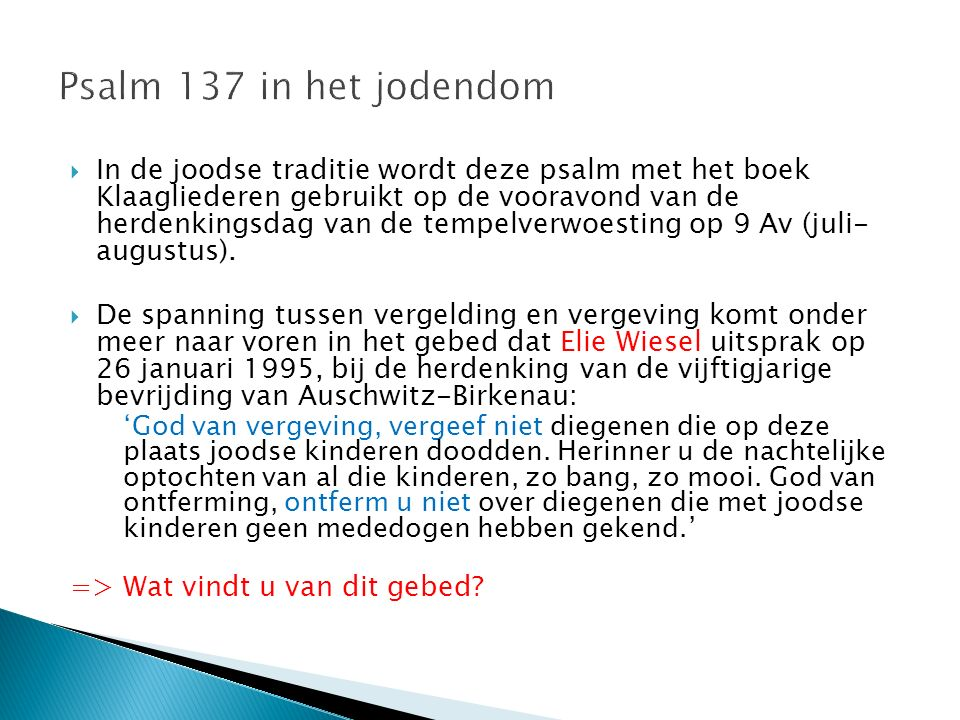 Psalm 137 in het jodendom