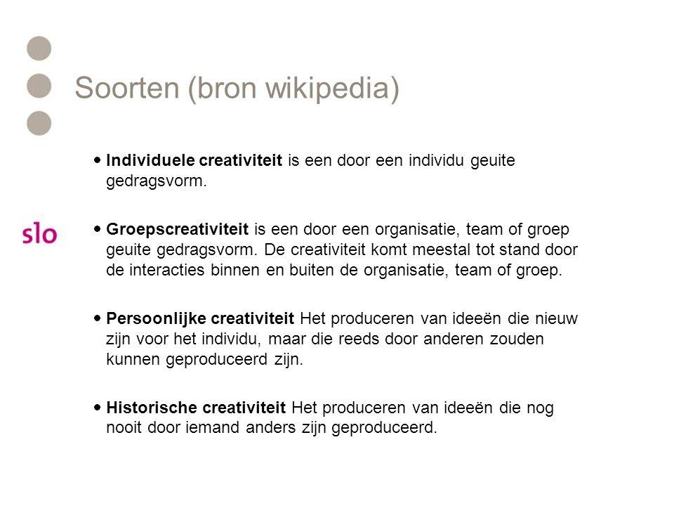 Soorten (bron wikipedia)