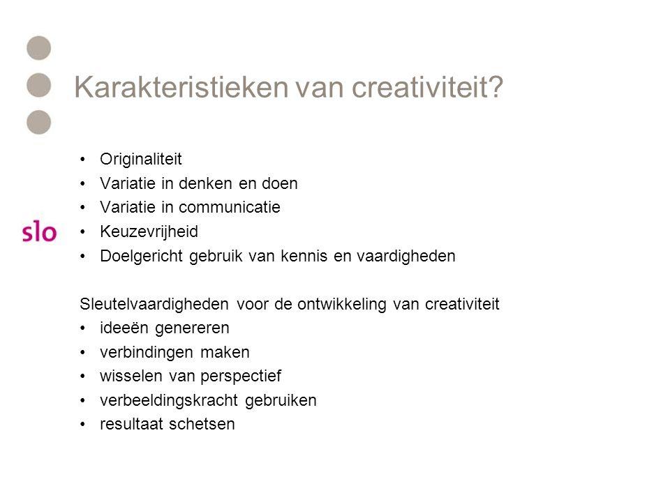 Karakteristieken van creativiteit