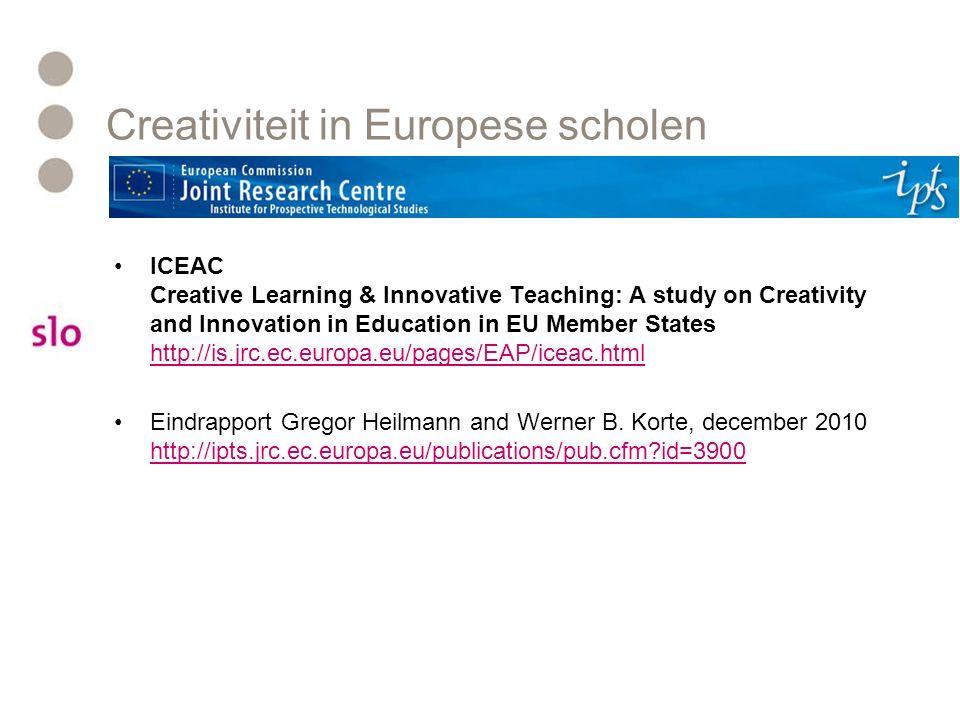 Creativiteit in Europese scholen