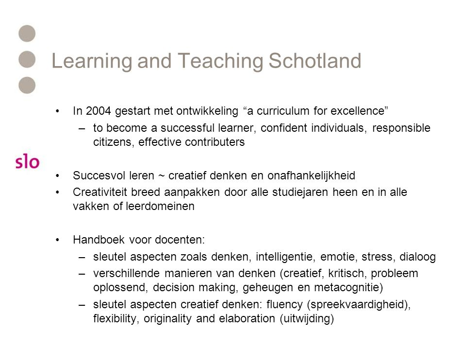 Learning and Teaching Schotland