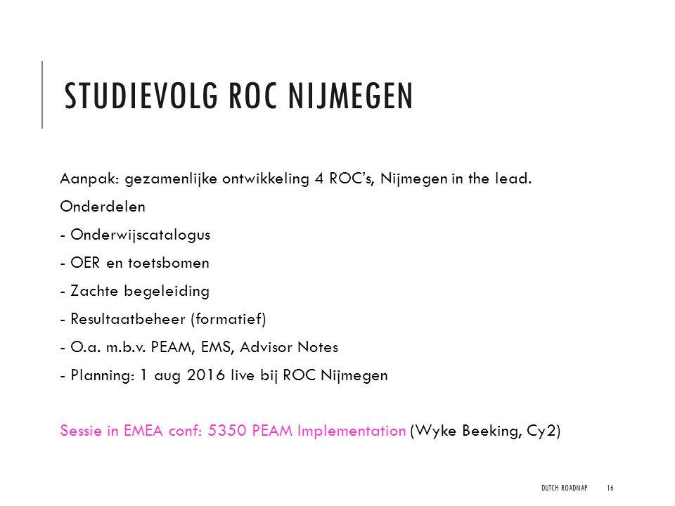 Studievolg ROC Nijmegen