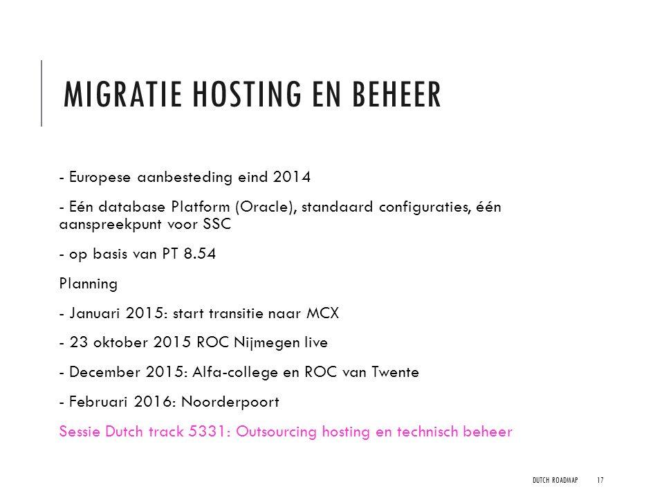Migratie hosting en beheer