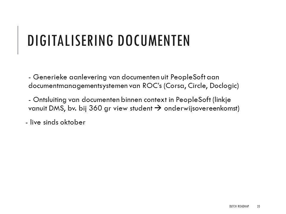 Digitalisering documenten