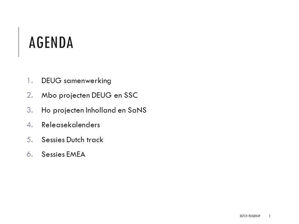 Agenda DEUG samenwerking Mbo projecten DEUG en SSC