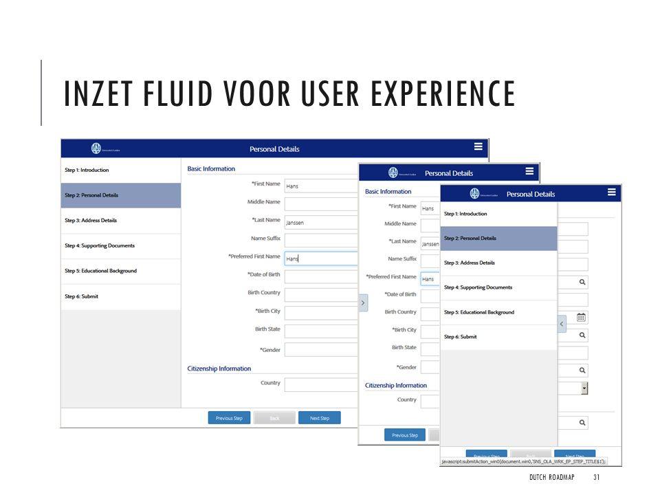 Inzet FLUID voor user experience