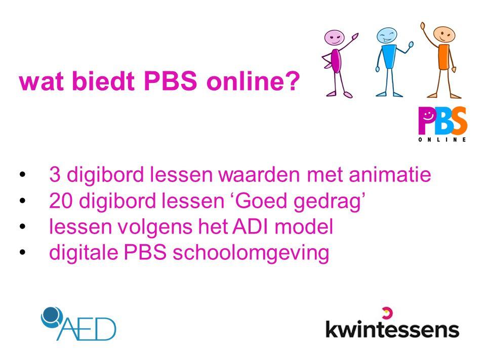 wat biedt PBS online 3 digibord lessen waarden met animatie