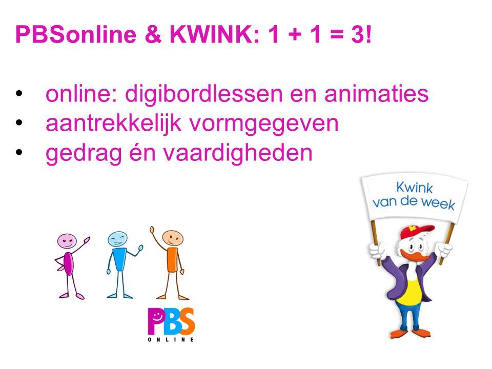 PBSonline & KWINK: 1 + 1 = 3. online: digibordlessen en animaties.