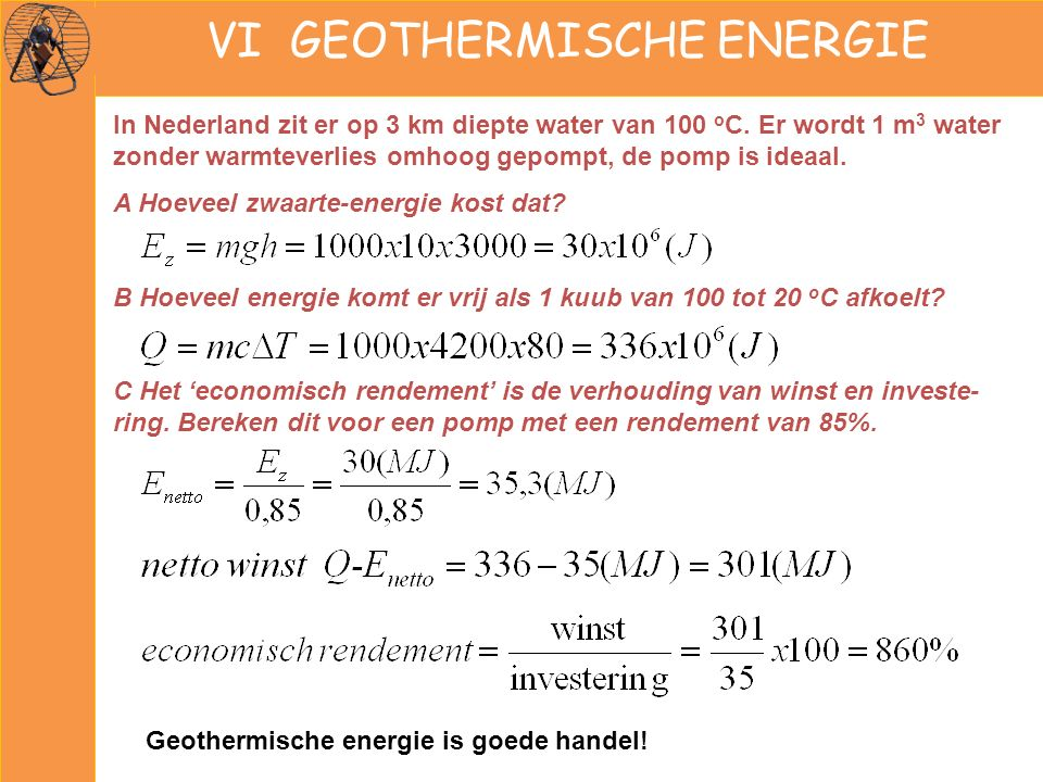 VI GEOTHERMISCHE ENERGIE