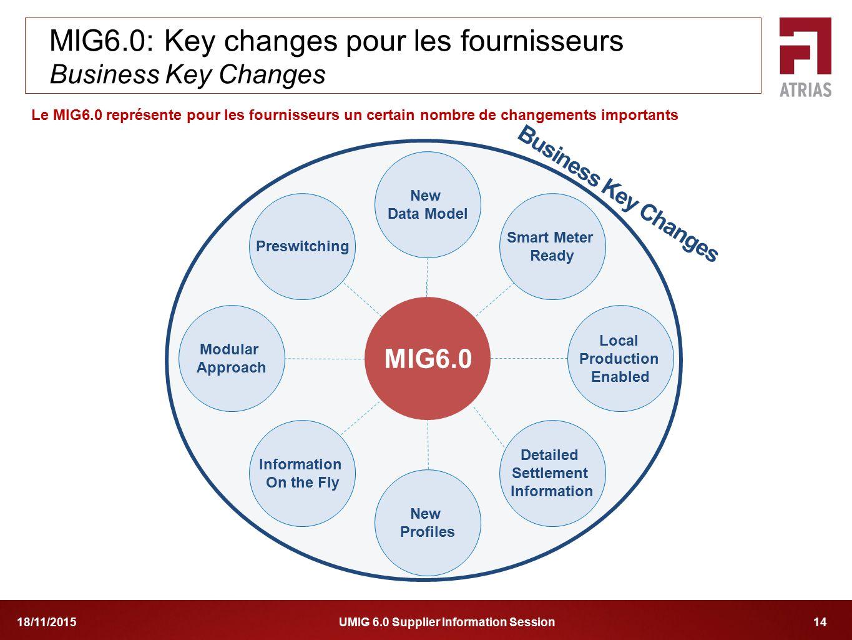 MIG6.0: Key changes pour les fournisseurs Business Key Changes