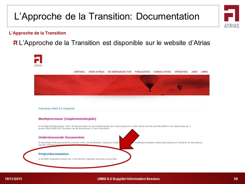 L'Approche de la Transition: Documentation