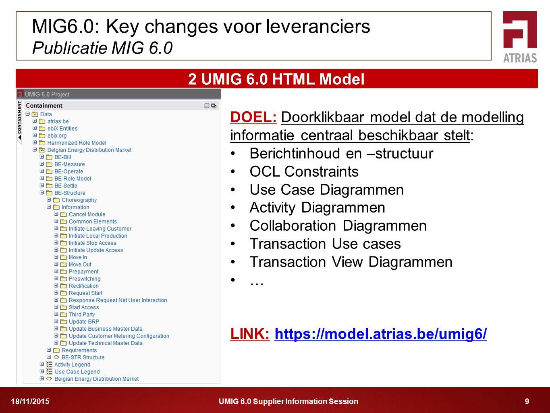 MIG6.0: Key changes voor leveranciers Publicatie MIG 6.0