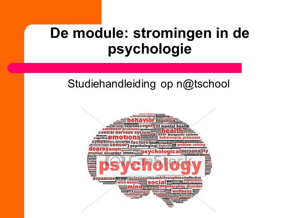 De module: stromingen in de psychologie