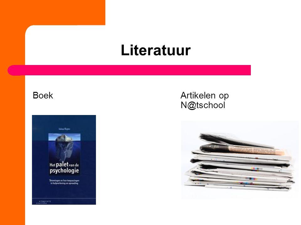 Literatuur Boek Artikelen op N@tschool