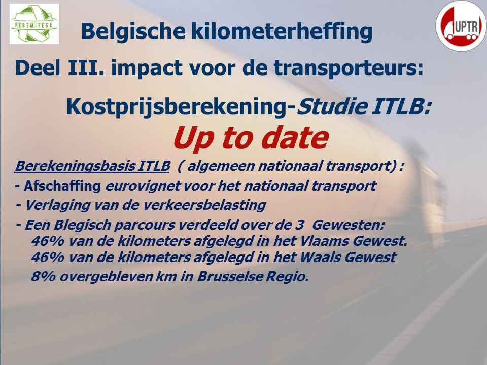 Belgische kilometerheffing Kostprijsberekening-Studie ITLB: Up to date