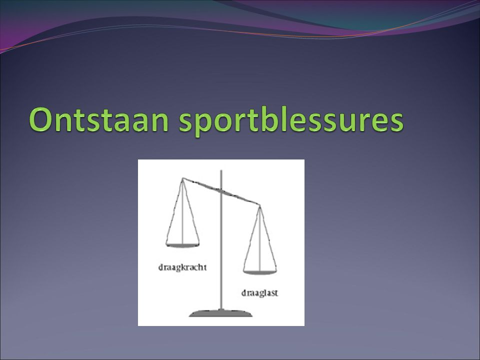 Ontstaan sportblessures