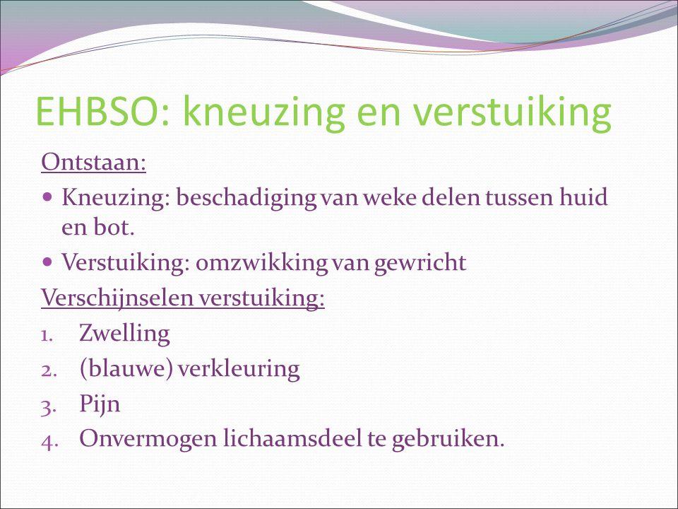 EHBSO: kneuzing en verstuiking