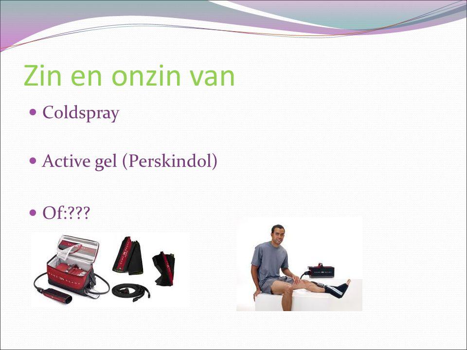 Zin en onzin van Coldspray Active gel (Perskindol) Of: