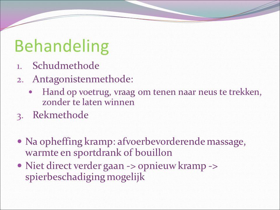 Behandeling Schudmethode Antagonistenmethode: Rekmethode