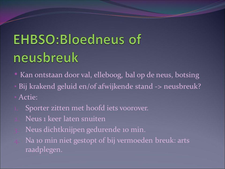 EHBSO:Bloedneus of neusbreuk