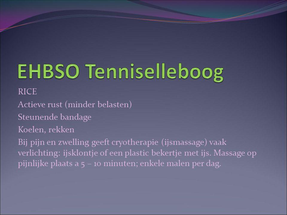 EHBSO Tenniselleboog RICE Actieve rust (minder belasten)