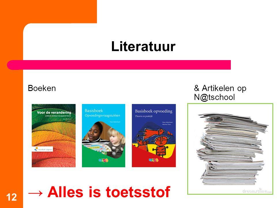 Literatuur Boeken & Artikelen op N@tschool → Alles is toetsstof