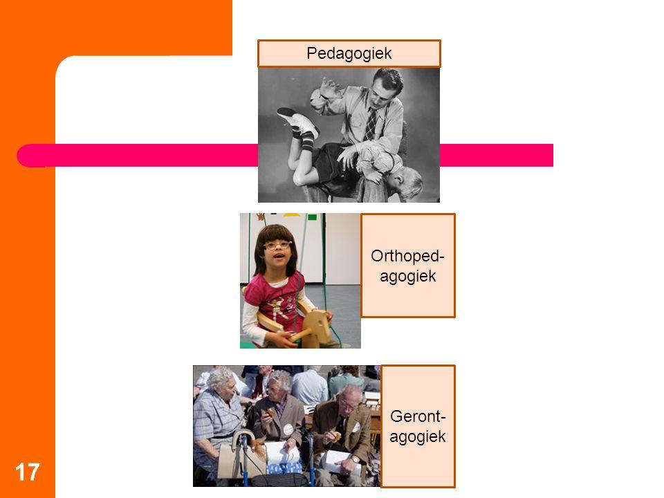 Pedagogiek Orthoped-agogiek Geront-agogiek 17
