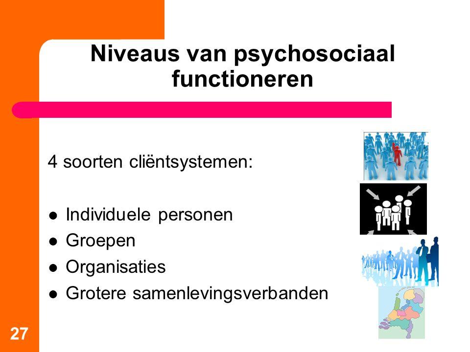 Niveaus van psychosociaal functioneren