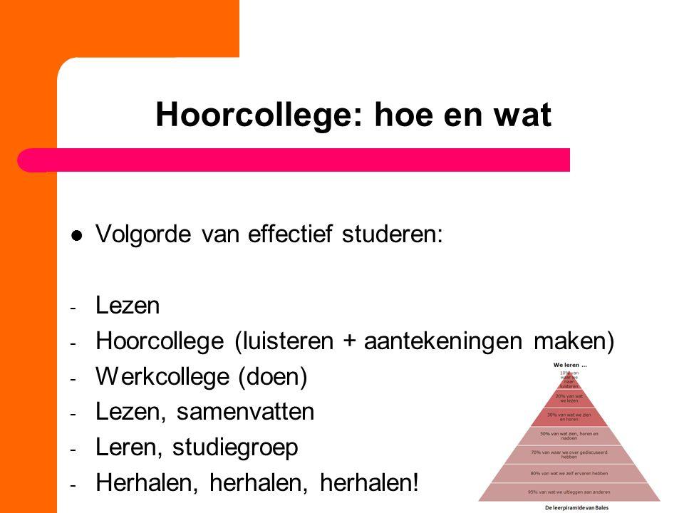 Hoorcollege: hoe en wat
