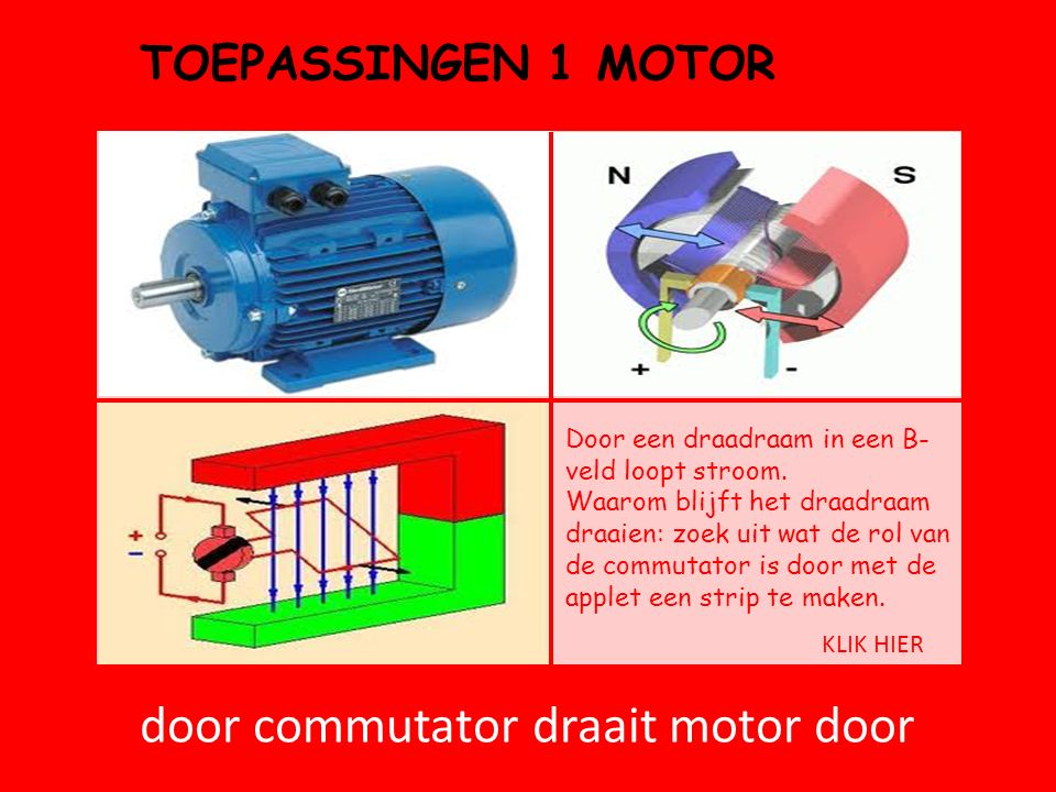 door commutator draait motor door