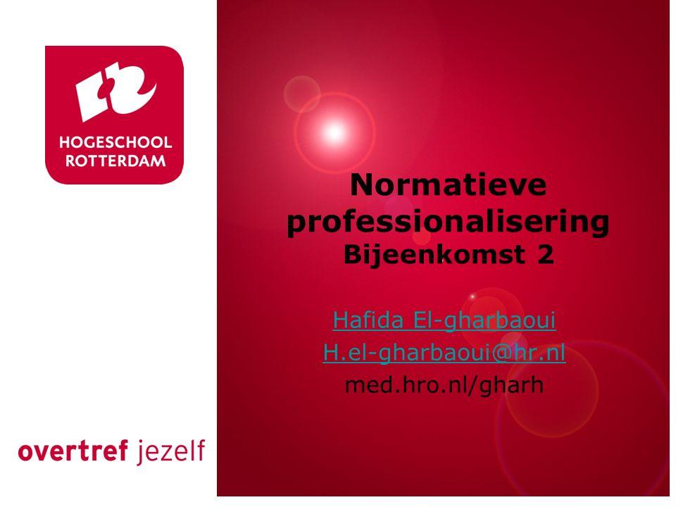 Normatieve professionalisering Bijeenkomst 2