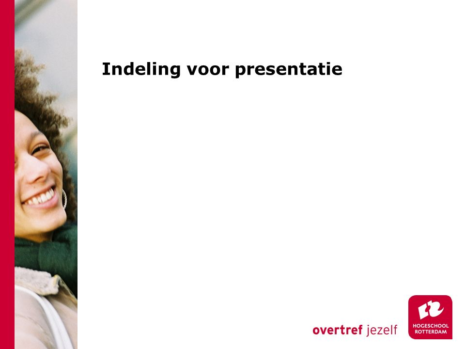 Indeling voor presentatie