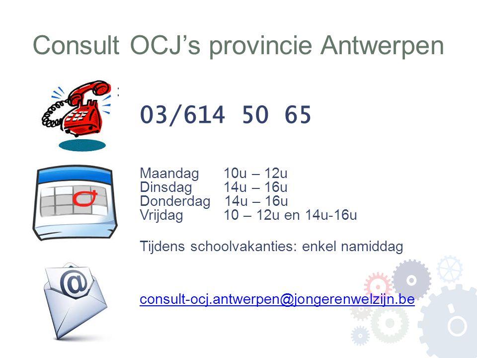Consult OCJ's provincie Antwerpen