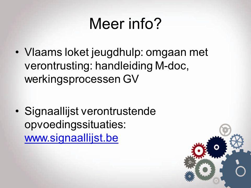 Meer info Vlaams loket jeugdhulp: omgaan met verontrusting: handleiding M-doc, werkingsprocessen GV.