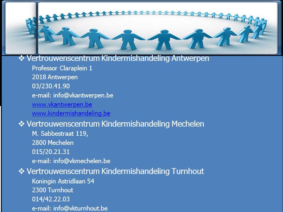 Zinloos geweld Vertrouwenscentrum Kindermishandeling Antwerpen