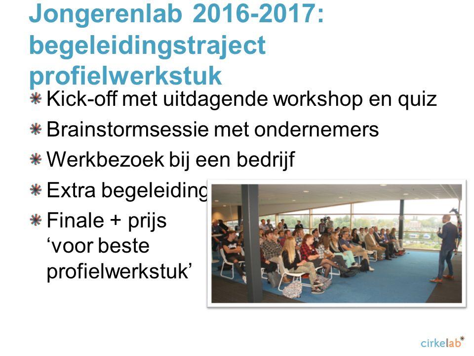 Jongerenlab 2016-2017: begeleidingstraject profielwerkstuk