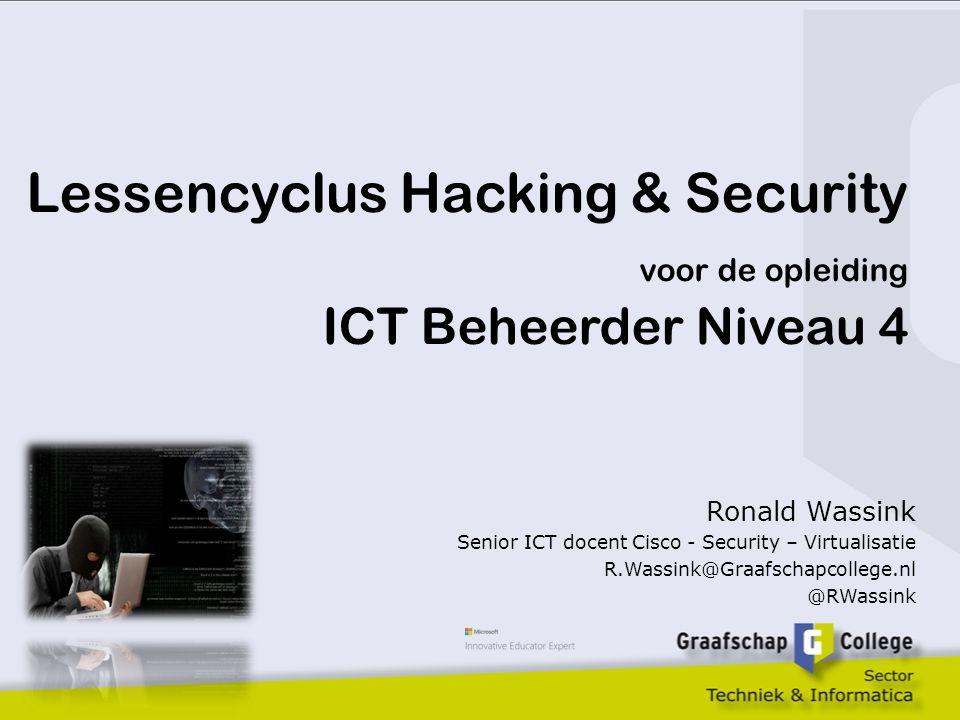 Lessencyclus Hacking & Security voor de opleiding ICT Beheerder Niveau 4