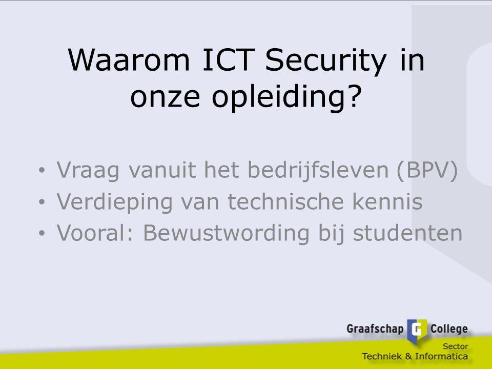 Waarom ICT Security in onze opleiding