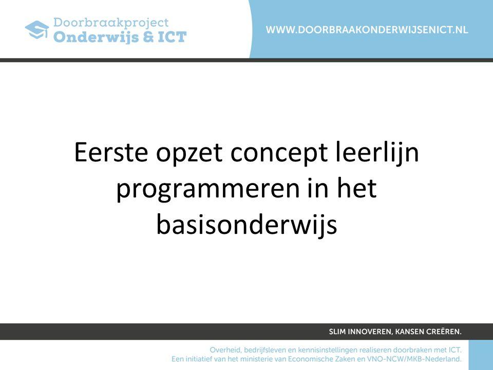 Eerste opzet concept leerlijn programmeren in het basisonderwijs