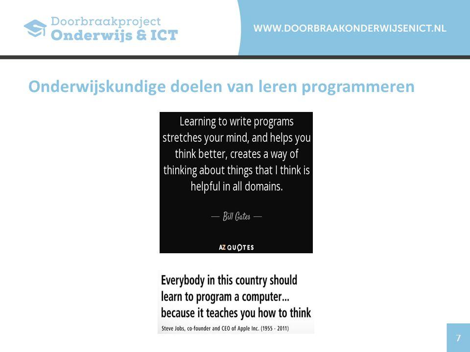 Onderwijskundige doelen van leren programmeren