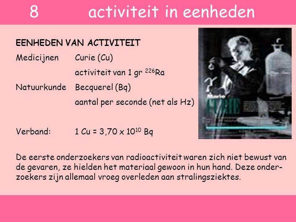 8 activiteit in eenheden